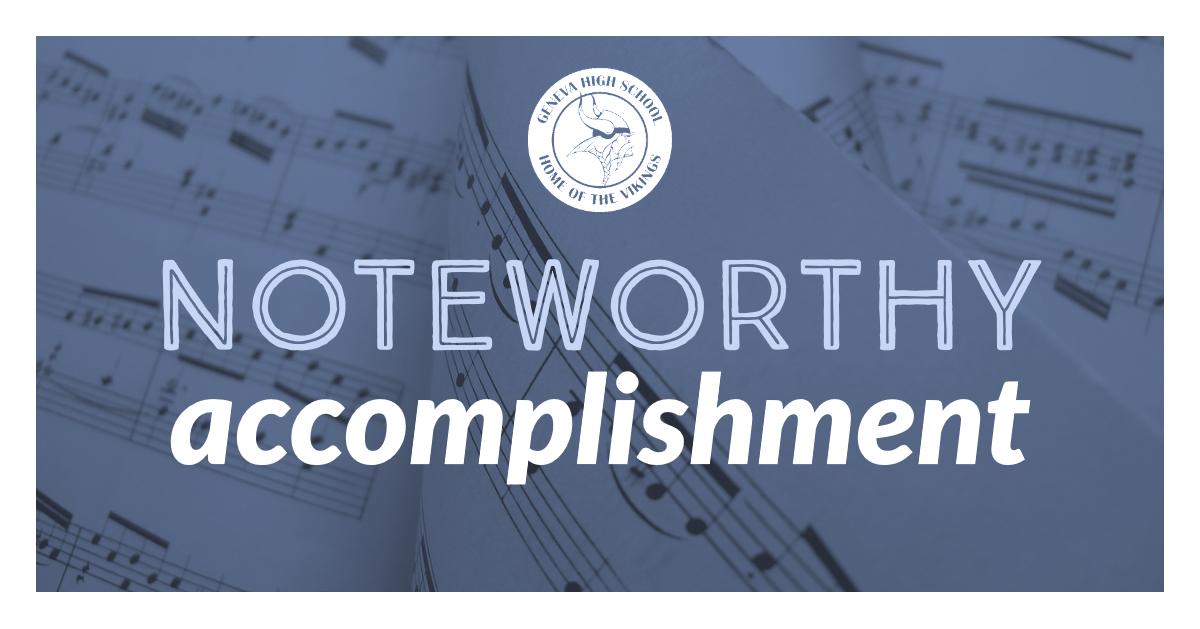 Music accomplishment logo