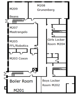 Basement Level Map