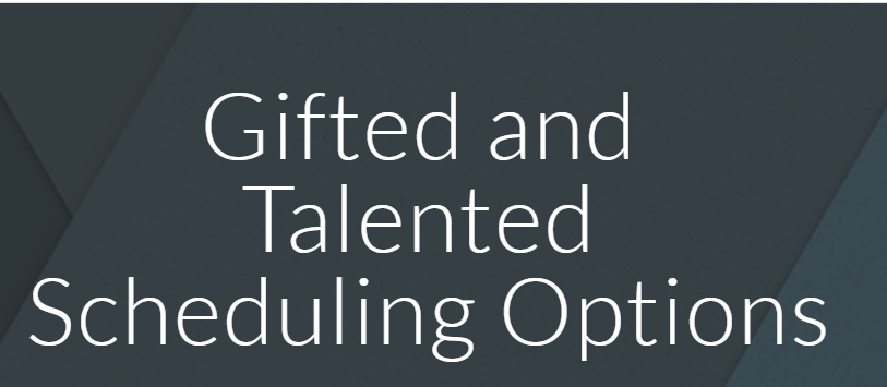 Gifted and Talented High School Scheduling Options