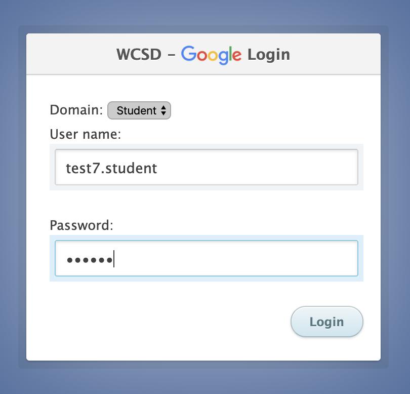 WCSD Login