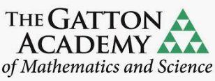 The Gatton Academy of Mathematics and Science with a green and white triangle