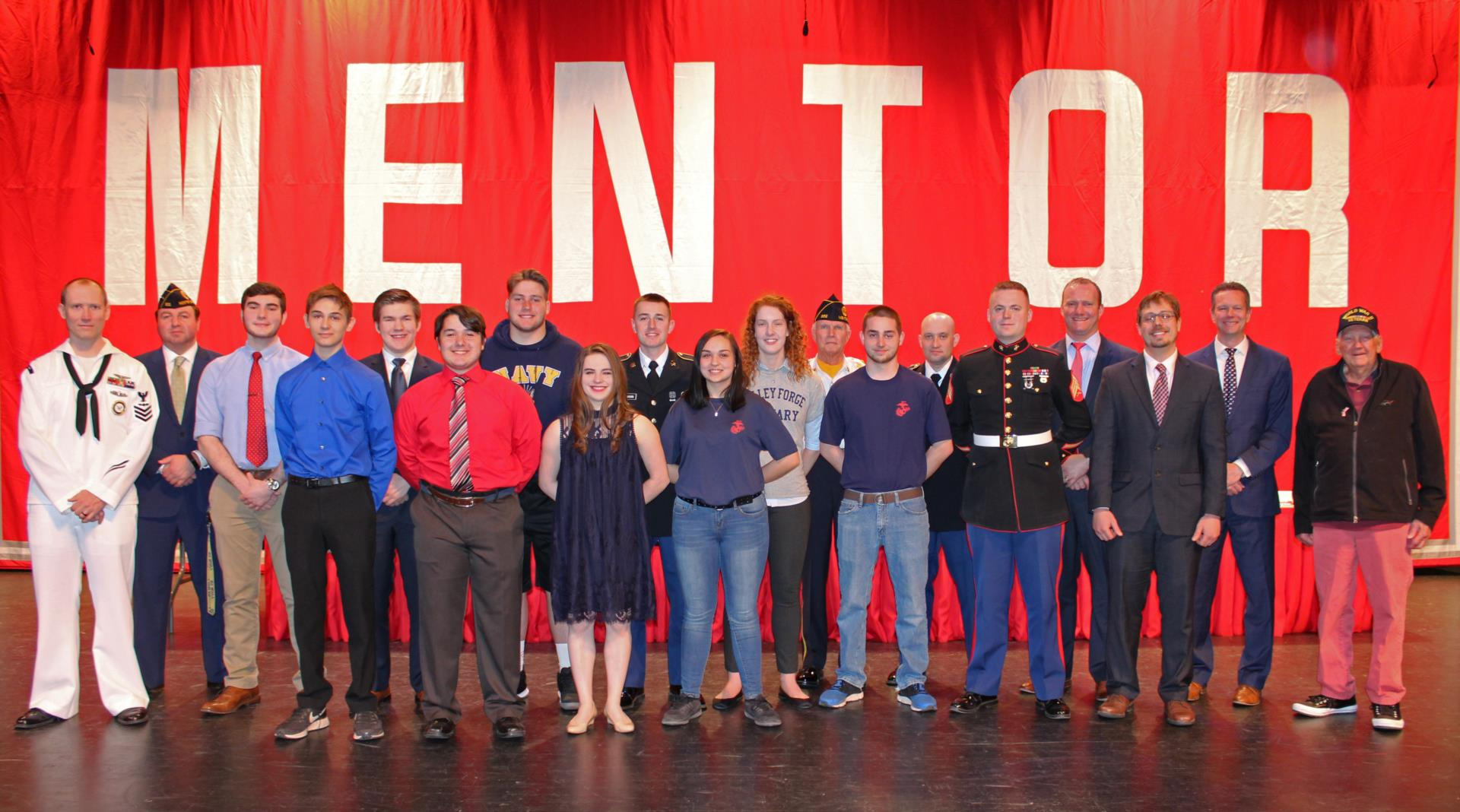 Students honored at military commitment ceremony