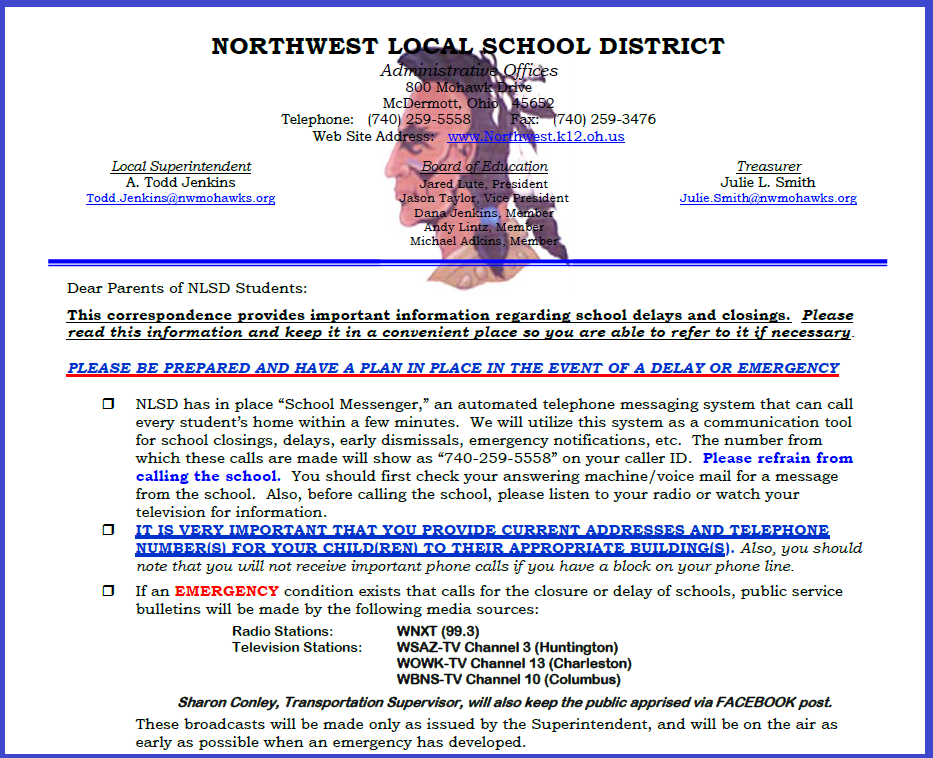 Emergency School Closing Procedure