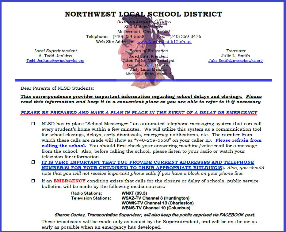 Emergency School Closing Procedure